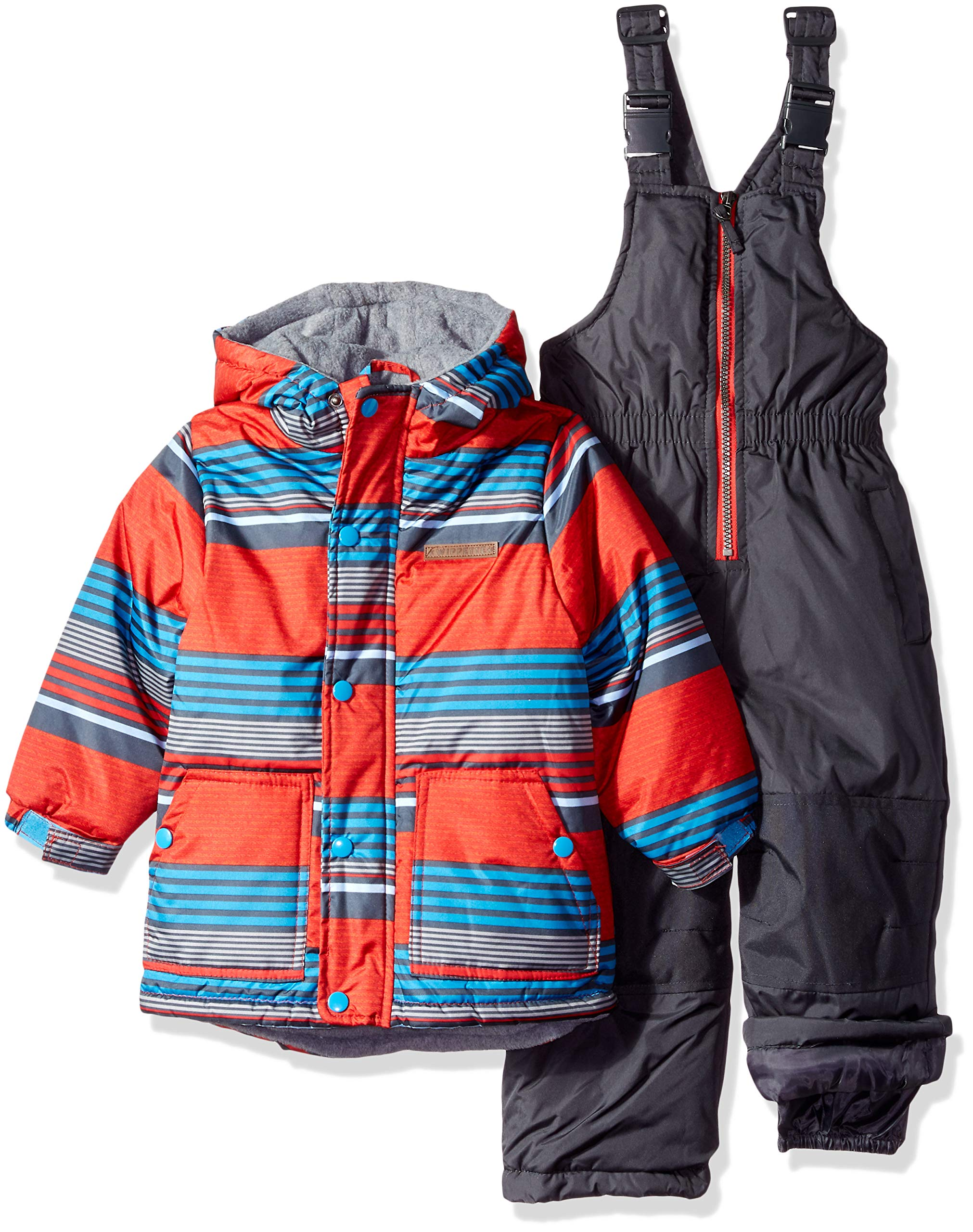 Wippette Baby Boys and Toddler Insulated Snowsuit, Striped Red, 2T by Wippette