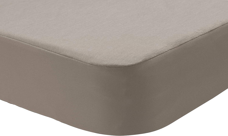 Pikolin Home - Sabana bajera protector Lyocell 2 en 1, impermeable e híper-transpirable. 135x190/200, color lino (Todas las medidas)
