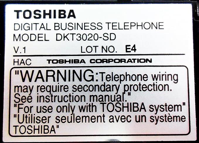 Toshiba DKT3020-SD Display Telephone Black CTX DKT Renewed