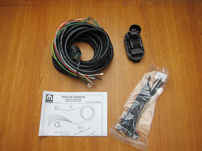 amazon.com: mopar dodge durango trailer tow hitch wiring harness kit oem  82213986ab: automotive  amazon.com