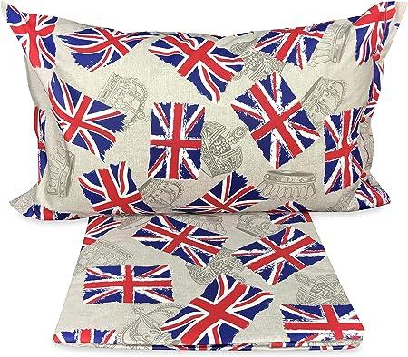 Copriletto Singolo Bandiera Inglese.Tex Family Copripiumino Bandiera Londra Inglese Dis Flag Singolo 1 Piazza Cm 155x200 Amazon It Casa E Cucina