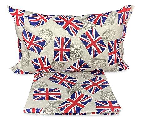 Copripiumino Singolo Bandiera Inglese.Tex Family Copripiumino Bandiera Londra Inglese Dis Flag