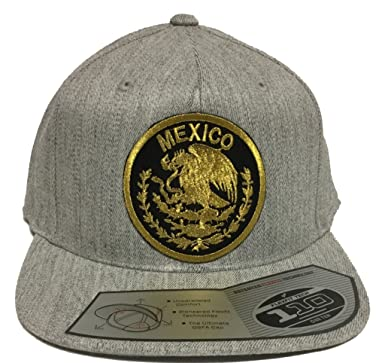 1dfbeaaf347 Image Unavailable. Image not available for. Color  Mexico Logo Federal Hat  Heather Grey Snapback ...