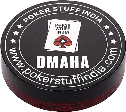 Poker stuff India Plastic Poker Dealer Button (Omaha and Texas)