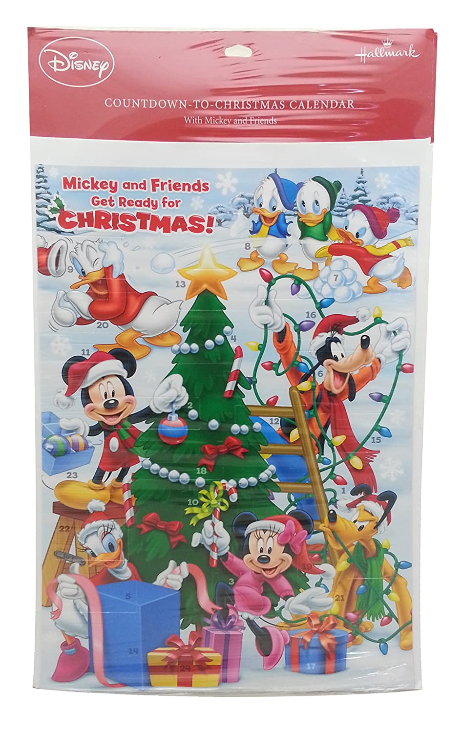 Mickey and Friends Get Ready for Christmas! Advent Calendar Hallmark