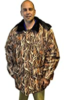 Big Mens Waterfowl Camo Waterproof Breathable Insulated Hooded Parka
