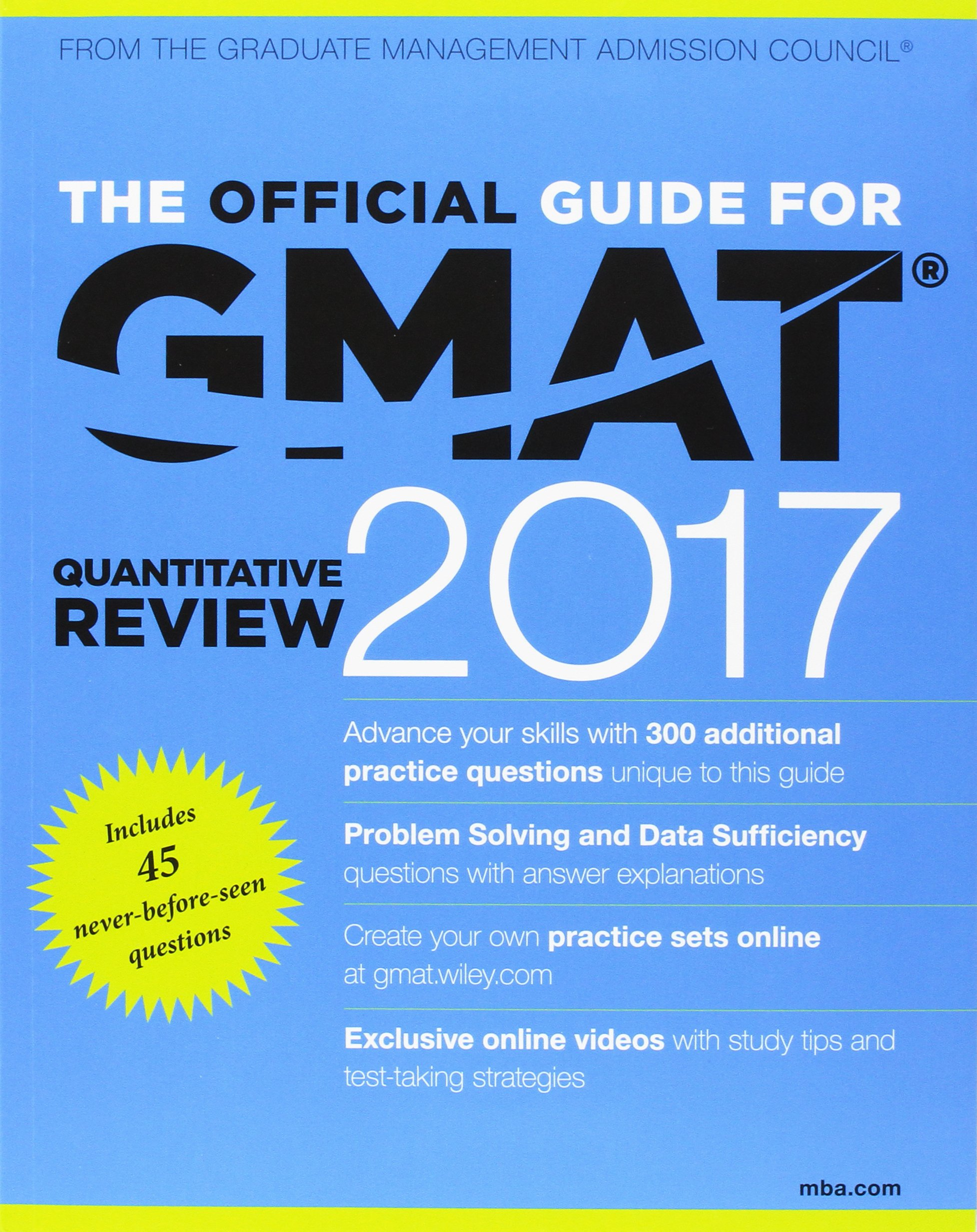 The official guide to the gmat review 2017 bundle question bank the official guide to the gmat review 2017 bundle question bank video gmac graduate management admission council 9781119254683 amazon books fandeluxe Gallery