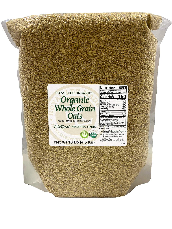 Royal Lee Organics USDA Certified Organic Gluten Free Oat Groats 10lbs (pack of 5)