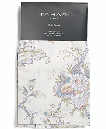 Amazon tahari home window curtains peacock jacobean birds tahari home window curtains peacock jacobean birds flowers 50 by 96 inches 100 mightylinksfo