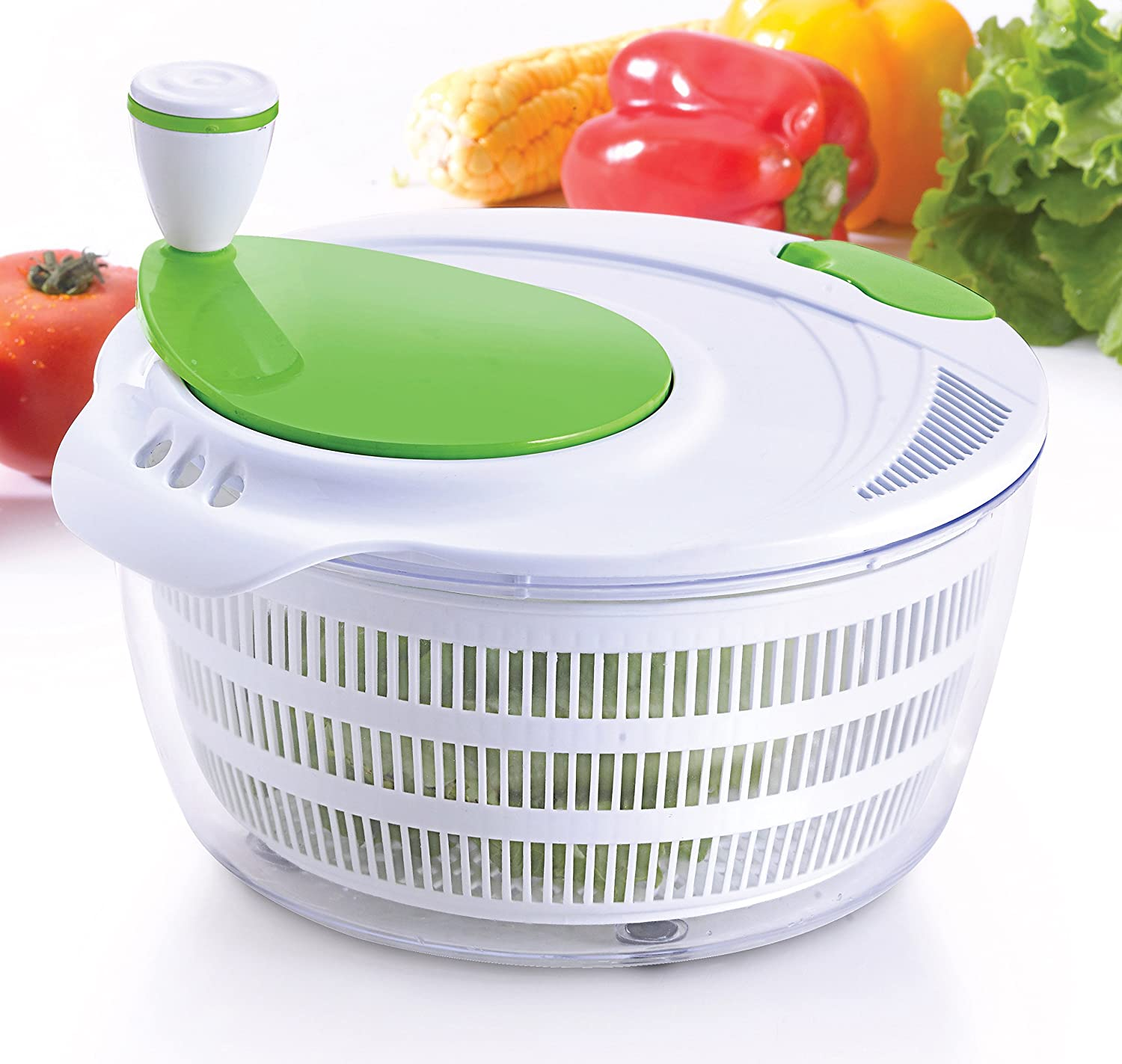 KUUK Salad Spinner - Dry Salad, Vegetables, Pasta