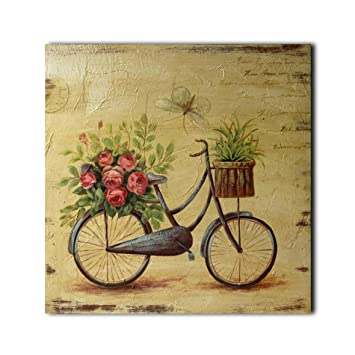 Amazon.com - CVHOMEDECO. Retro Distressed Hand Painted Wooden Frame ...