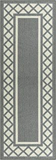 product image for Maples Rugs Bella Runner Rug Non Slip Hallway Entry Carpet [Made in USA], 2 x 6, Grey
