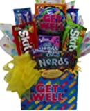 "Delight Expressions™ ""Get Well Soon"" Gift Box (Small) - Chocolate and Candy Bouquet"