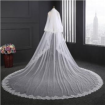 Nuevo 2 niveles de boda nupcial Cintura longitud Velo En Blanco