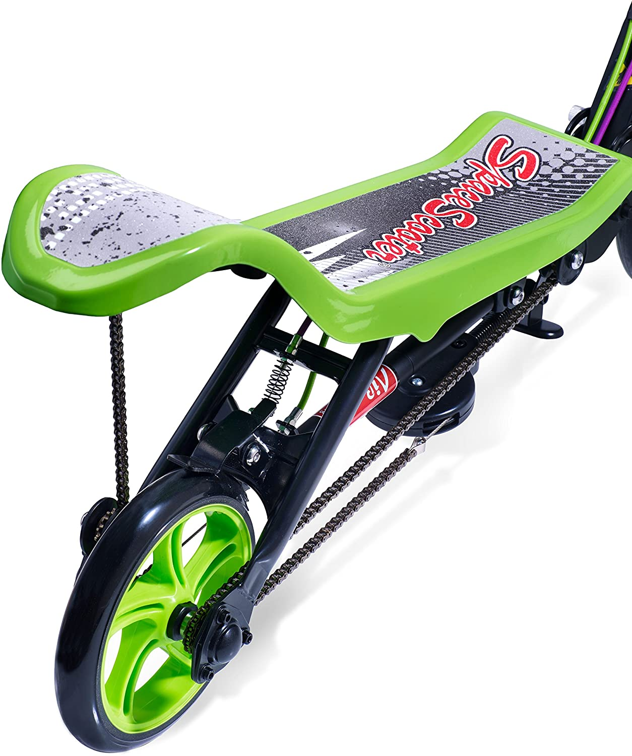 Space Scooter X580 Push Board Seesaw Kids Scooter with Brake Air Suspension /& Compact Fold Black