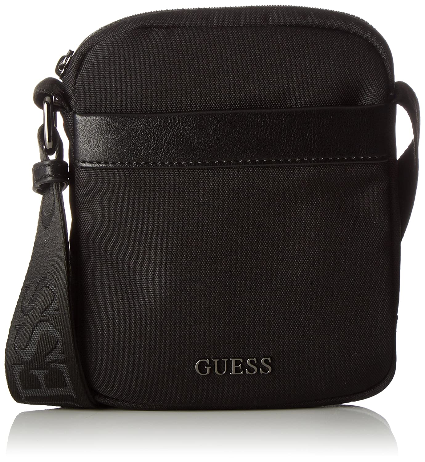 Guess - Sacoche Global Functional (hm6245 nyl74) taille 18 cm Guess Hm6245nyl74 Sacs portés main homme Nero 4x18x14.5 cm (W x H L)