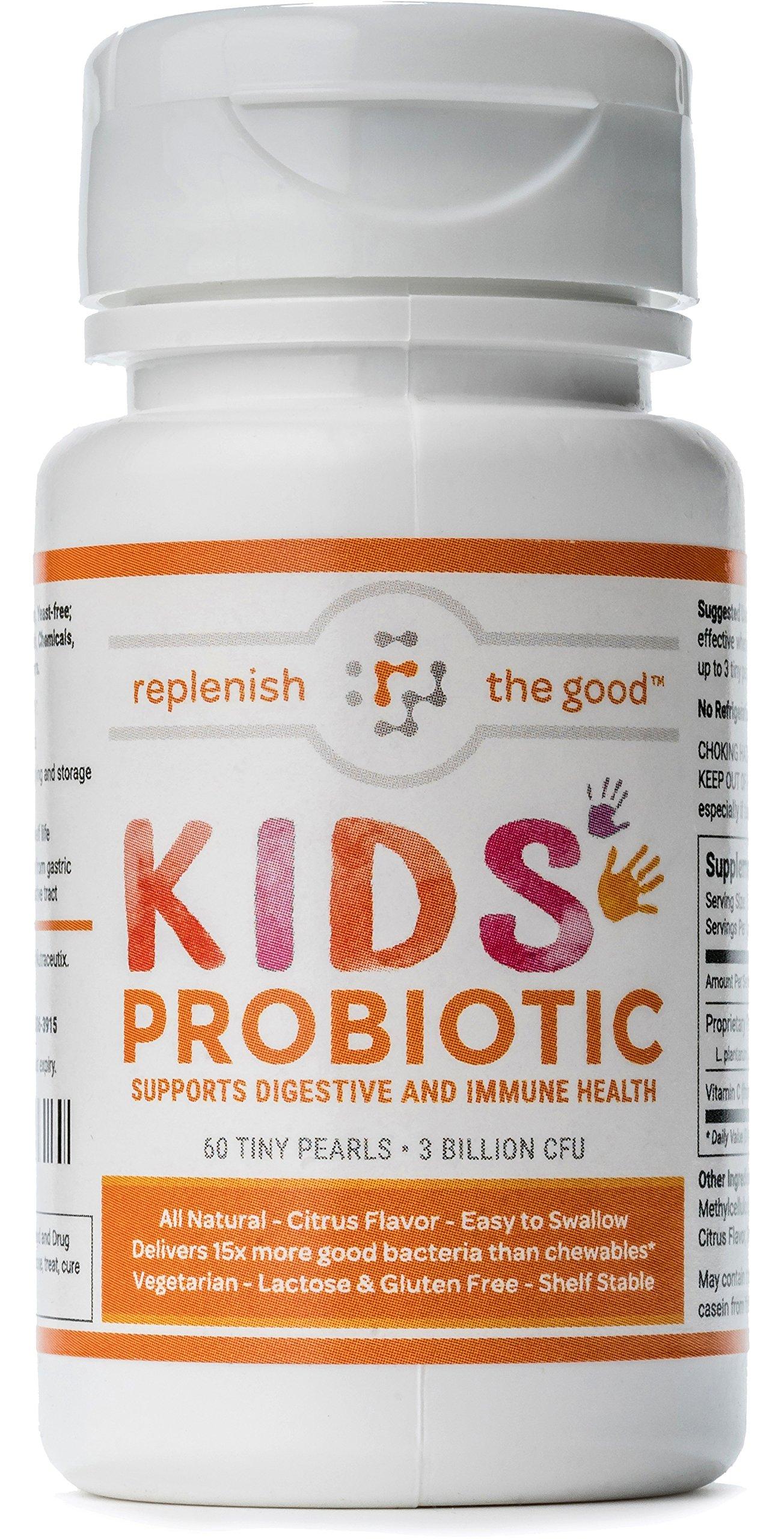 Kids Probiotics 60-Day Supply. 3 Billion Cfu 5 Strains Easy To Swallow Pearls.. 18