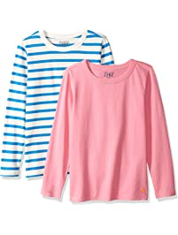 LOOK by Crewcuts Girls' 2-Pack Graphic/Solid Long Sleeve T-Shirt