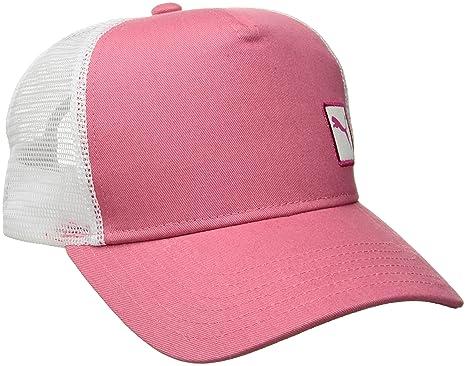 1cf16776 PUMA Women's Evercat Trucker Hat, Medium Pink OS at Amazon Women's ...