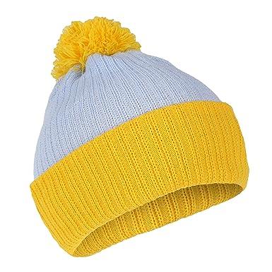 5dd35446cd0 Blue and Yellow Cartman Bobble Hat  Amazon.co.uk  Clothing