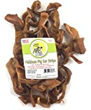 Pig Ear Strips or Jumbo Pig Ears for Dogs Made in the USA All-Natural, Non-Basted Grain-Free Collagen-Rich Dog Chews