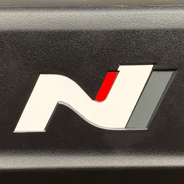 PrintAttack P042 l/ámina de Carbono 751 Oracal//3M Juego de 2 Pegatinas con el Emblema de N-Performance