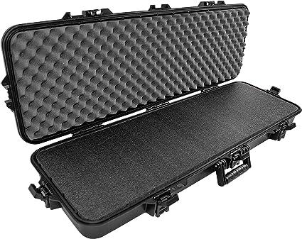 HeavyDuty Tactical Hard Rifle Case Customizable Padding Lockable Gun Storage NEW