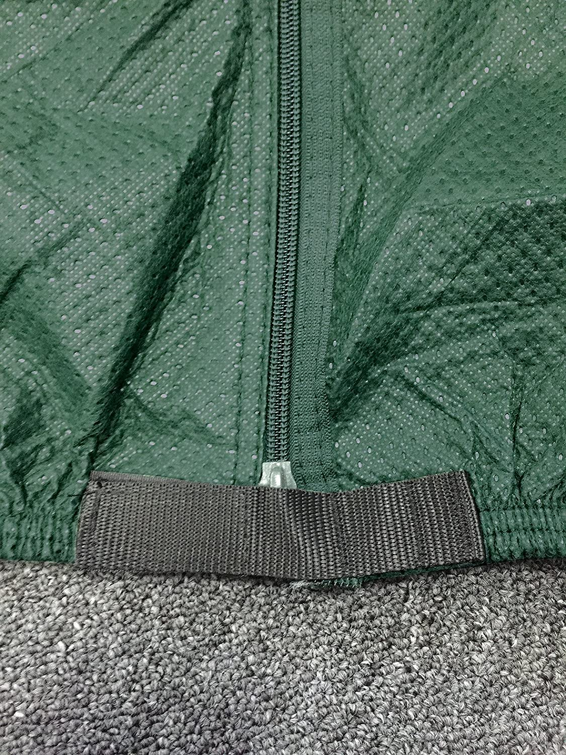 MP Essentials All Season Breathable 4-Ply Green Caravan Covers with Straps 19-21ft Elastic Hem /& Reflectors