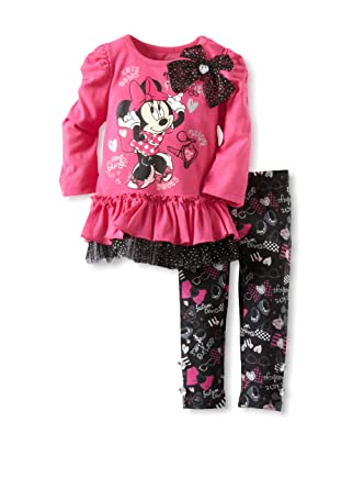 9d8ef0a5eb5c Amazon.com  Disney Baby Girls  2 Piece Minnies Favorite Things ...