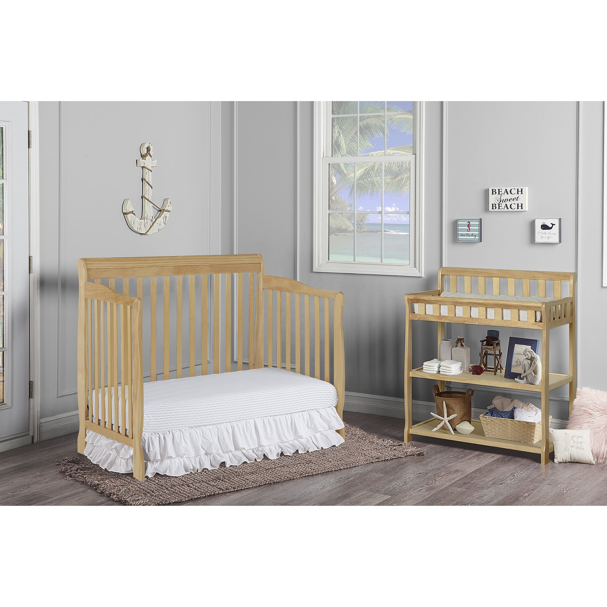 Dream On Me Ashton 5 in 1 Convertible Crib, Natural by Dream On Me (Image #5)