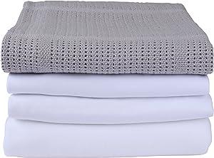 Clair de Lune–Sábana para moisés ropa de cama Bale Set de regalo, gris, 4piezas