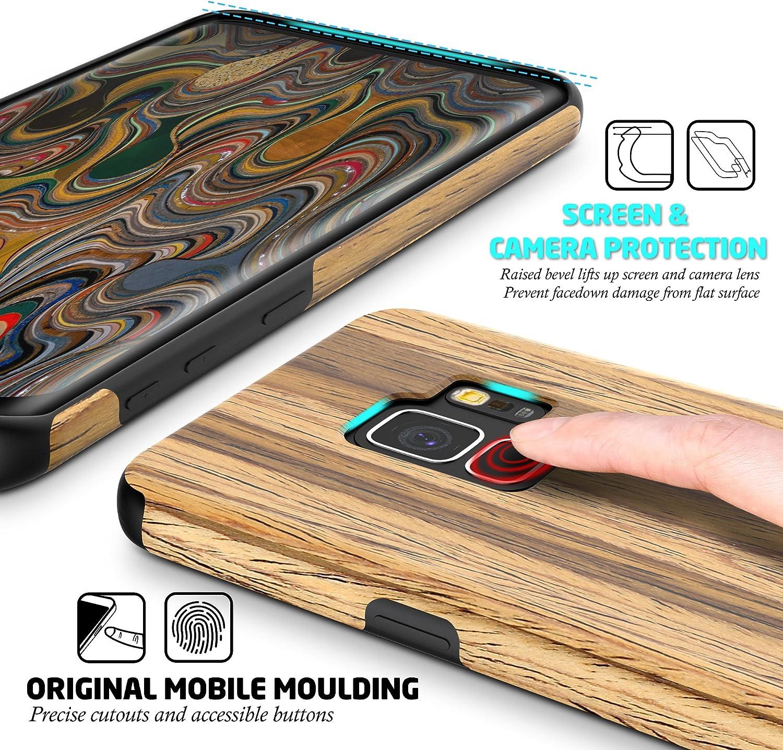 Amazon.com: Galaxy S9 Funda, BELK [Slim a Beat] suave madera ...