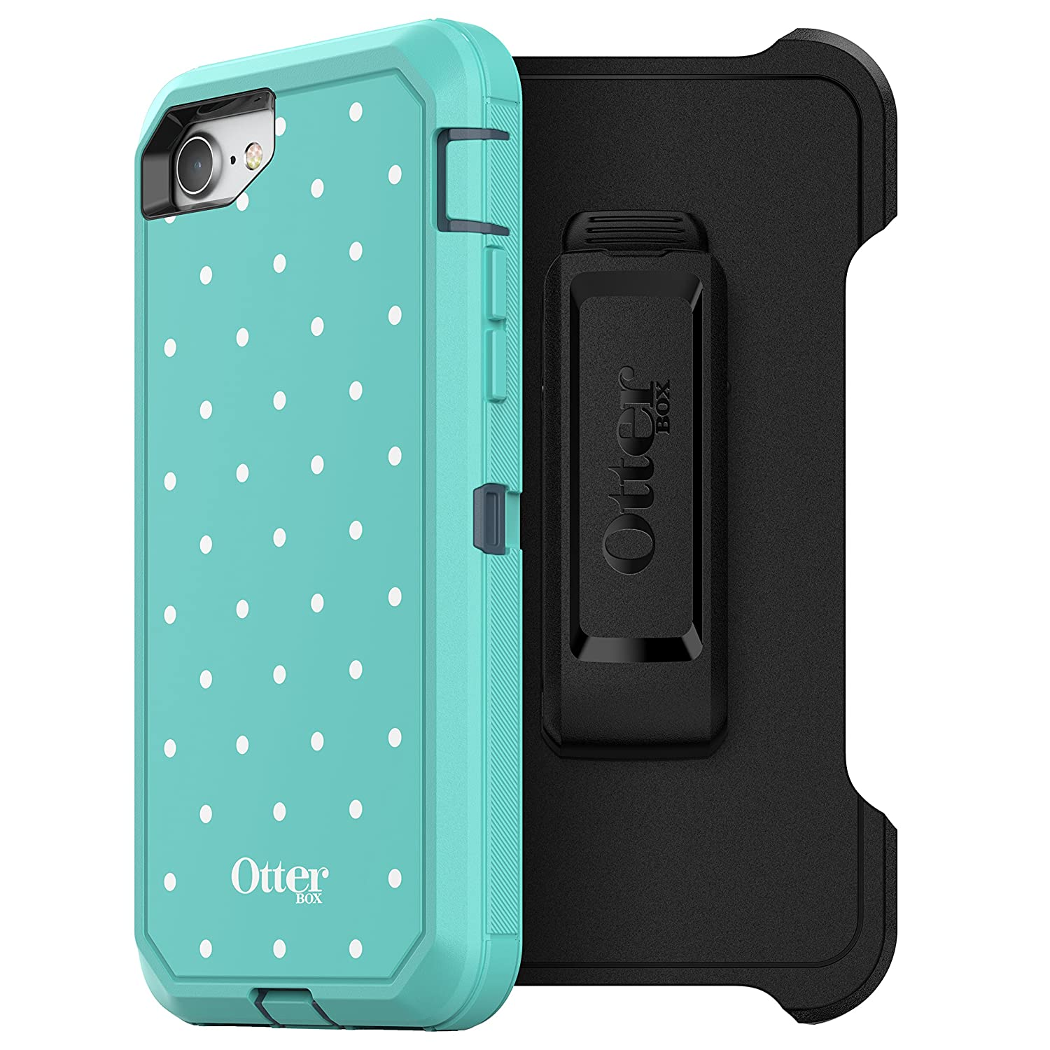OtterBox DEFENDER SERIES Case for iPhone 8 & iPhone 7 (NOT Plus) - Frustration Free Packaging - BLACK 77-54027