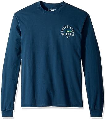 1695e50a Quiksilver Waterman Men's Fish Hero Long Sleeve T-Shirt, Major Blue XXL