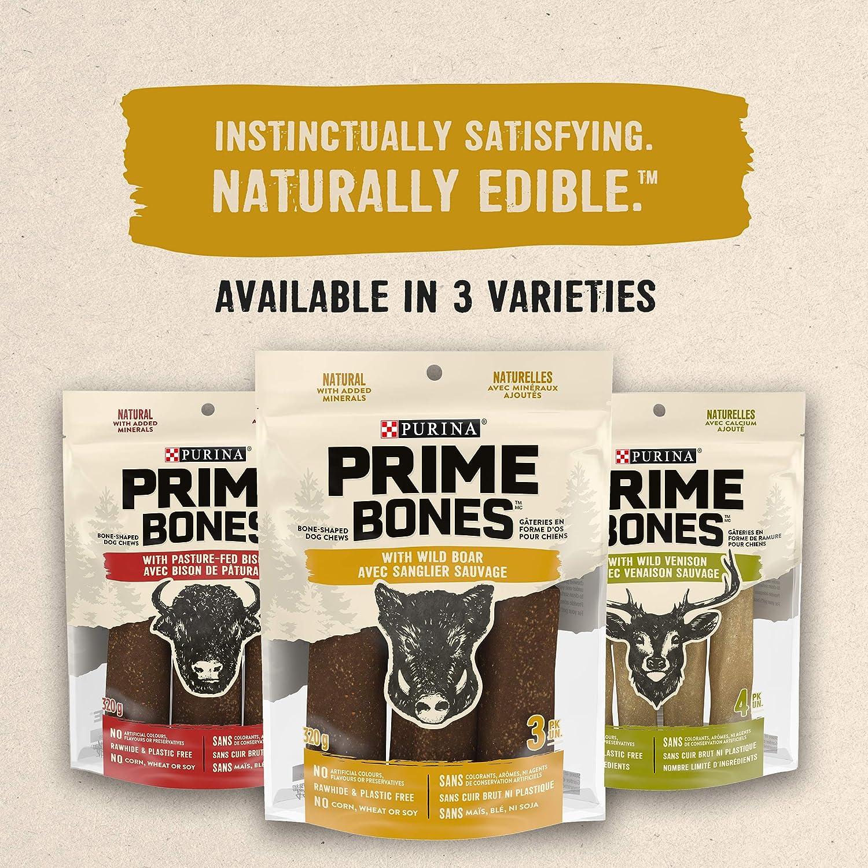 Prime Bones Dog Treats Wild Boar Bone-Shaped Dog Chews 320g