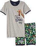 Hatley Boys' Organic Cotton Short Sleeve Printed Pajama Set
