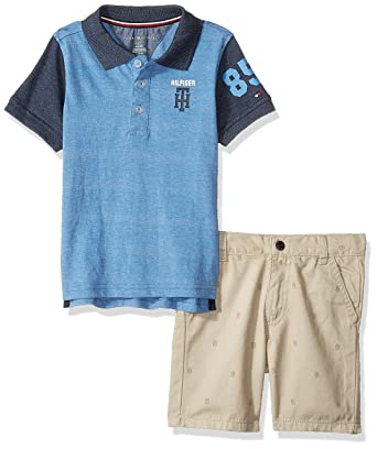 9e9ae6d87 Amazon.com: Tommy Hilfiger Boys' Toddler 2 Pieces Polo Shorts Set: Clothing