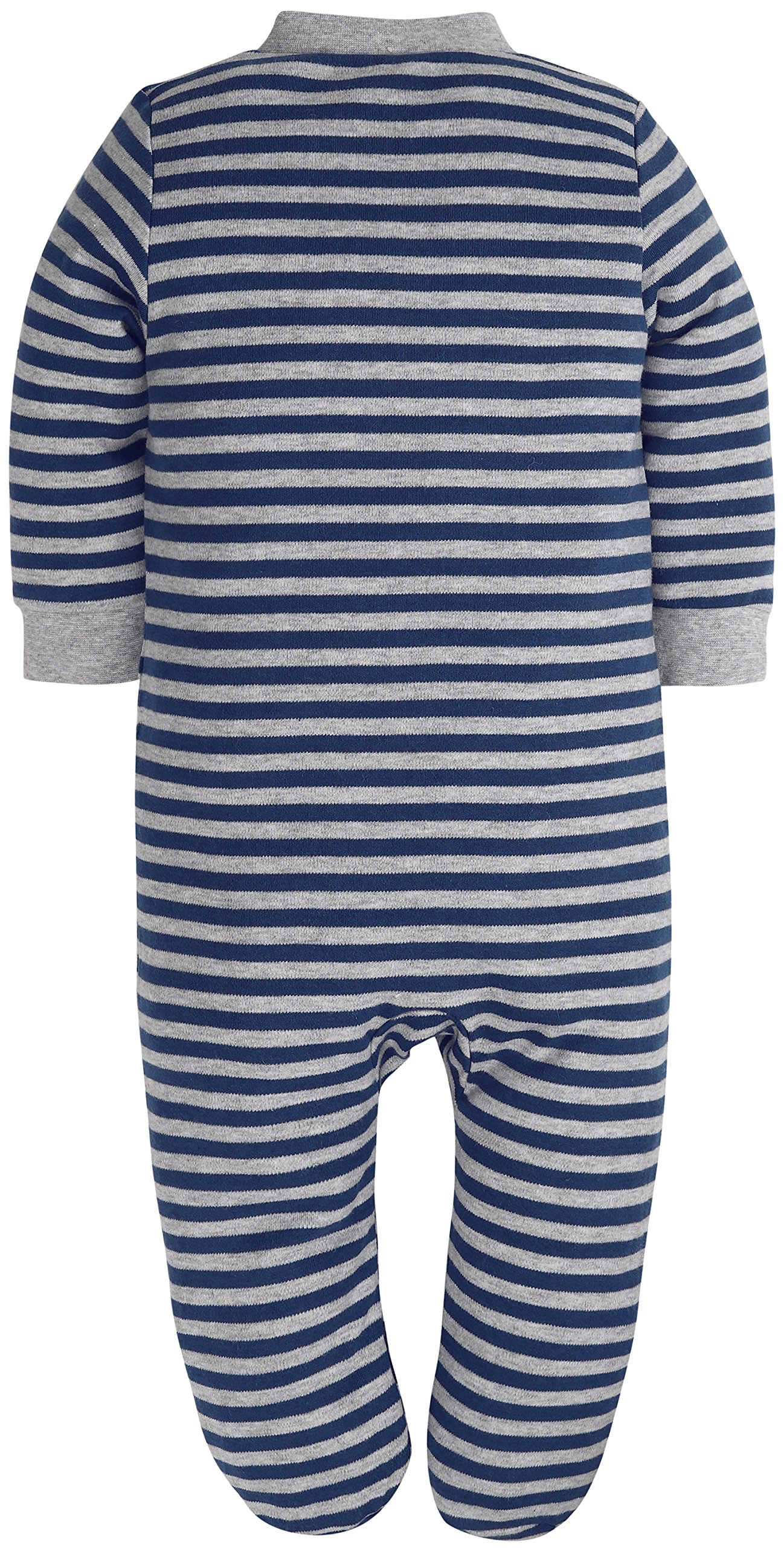 Baby Boys'2 Pack Footed Sleeper Yarn-Dyed Striped Baby Pajamas Set (Blue Dog/Grey Car, 18-24 Months) by SHENGWEN (Image #8)