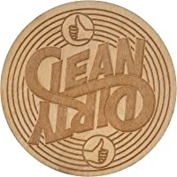 Stellar Factory Clean VS. Dirty - A Reversible, Wood Dishwasher Magnet