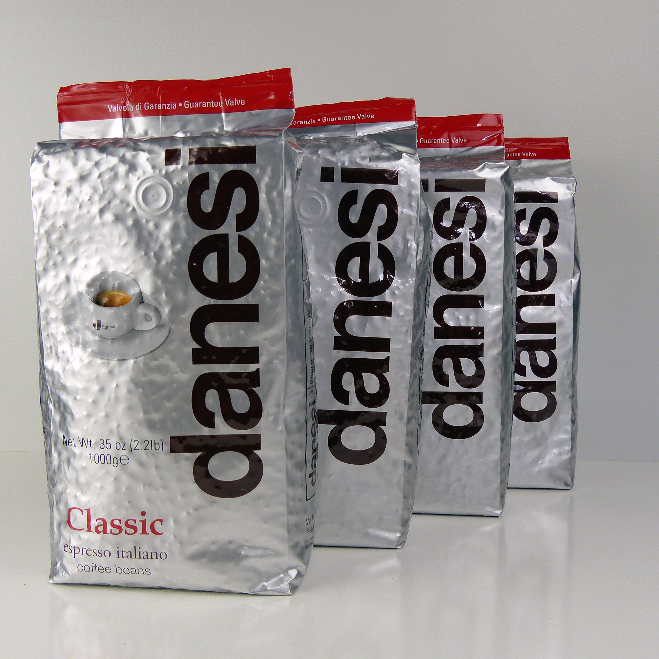 Danesi Caffe Classic Classico Espresso Beans (4 x 2.2 lbs bag)