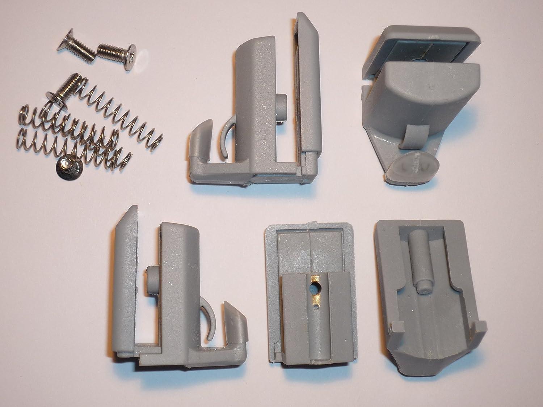 Juego de 4 ganchos en la parte inferior para mampara de ducha de acabado cromado//soportes para AM17-4