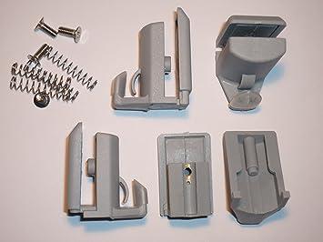 Juego de 4 ganchos en la parte inferior para mampara de ducha de/soportes para AM16-4: Amazon.es: Bricolaje y herramientas