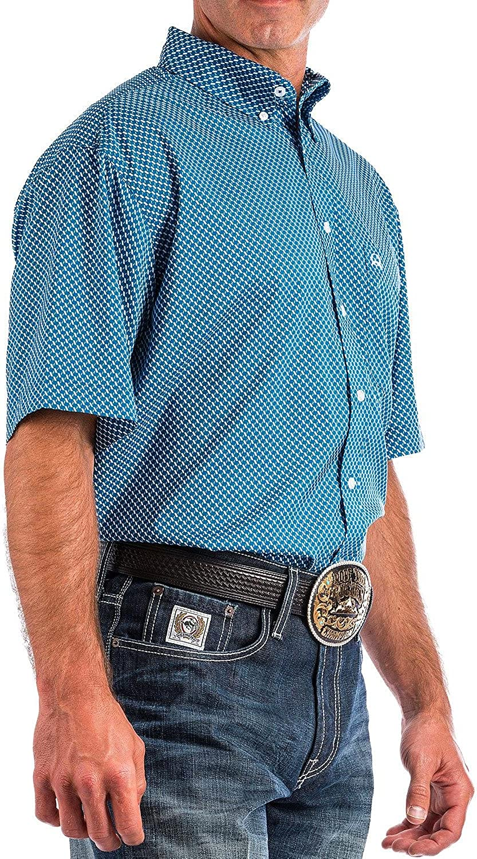 Cinch Mens Athletic Print Short Sleeve
