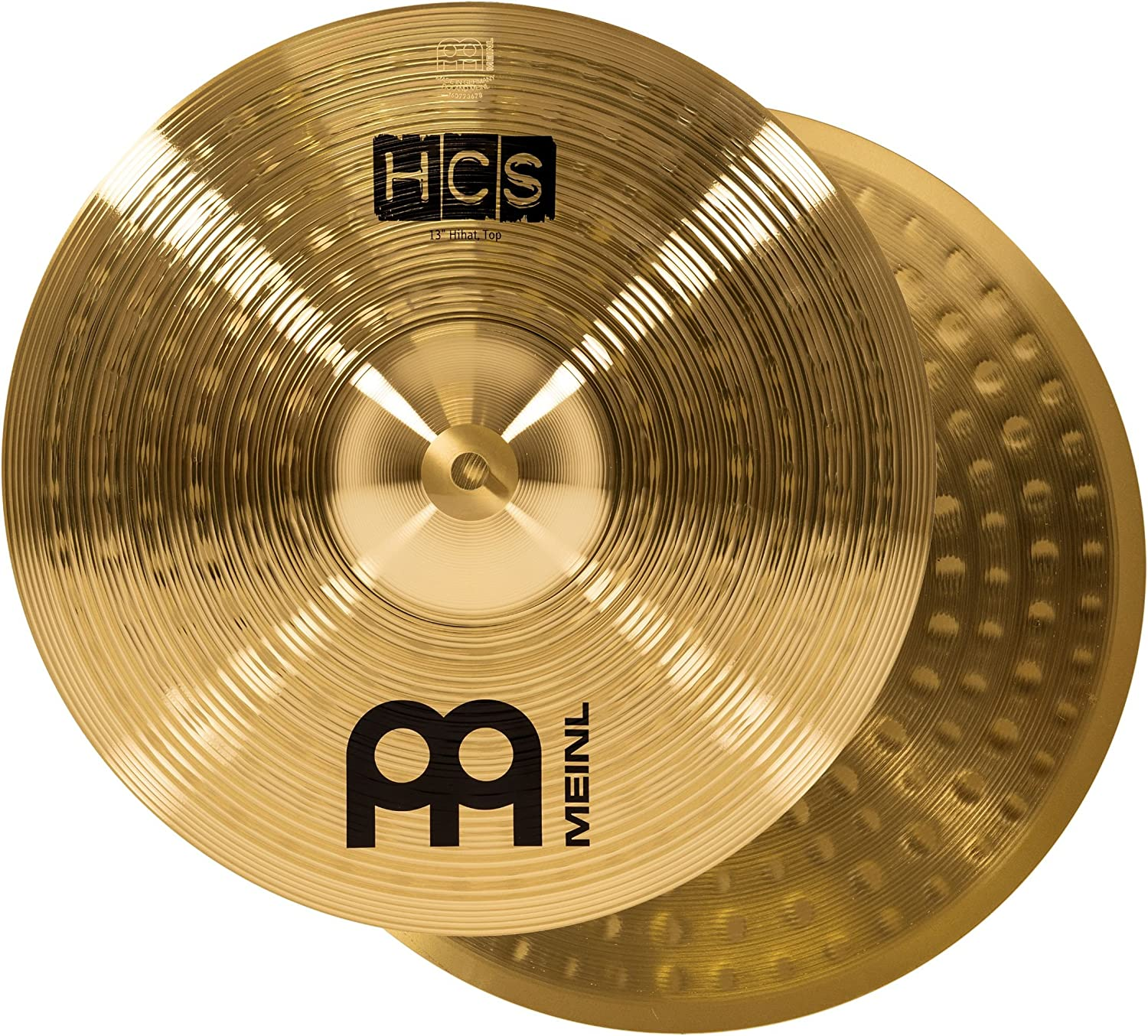 Meinl Cymbals Hihat (Hi Hat) Cymbal Pair – Hcs Traditional Finish Brass For Drum Set