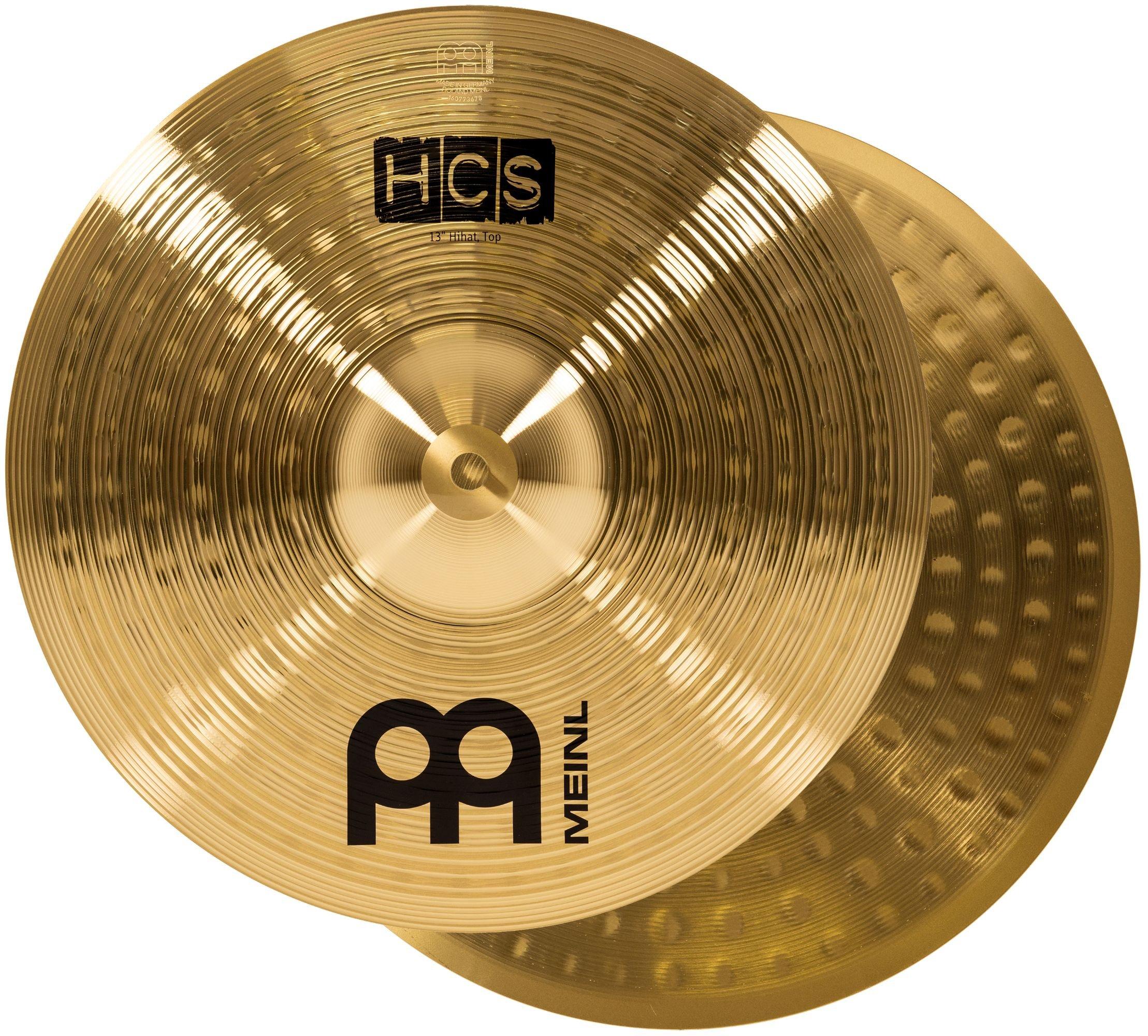 Meinl Cymbals HCS13H 13'' HCS Brass Hihat (Hi hat) Cymbals for Drum Set, Pair (VIDEO)