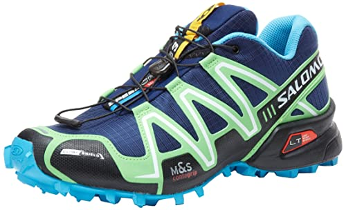 SALOMON Speedcross 3 CS Zapatilla de Trail Running Caballero, Azul Marino/Verde, 42: Amazon.es: Zapatos y complementos