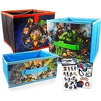 Marvel Avengers Storage Bin 3 Pack ~ Superhero Room Accessories Bundle | Avengers Locker Bins For Boys, Girls Room…