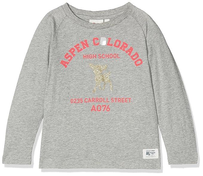 AO 76 T-Shirt Raglan School, Camiseta para Niñas: Amazon.es: Ropa y accesorios