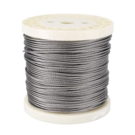 """Marine Stainless Steel 316 Type Wire Rope Cable Balustrade Decking 7x7 1//16/"""""""