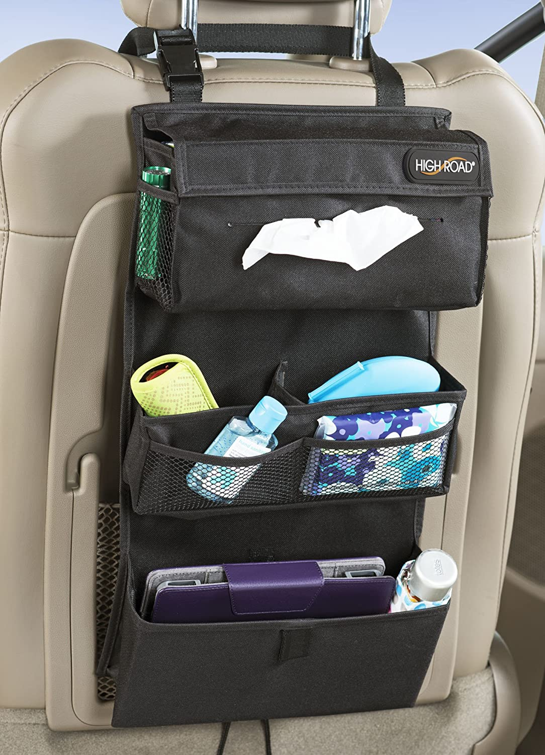 amazoncom high road car seat back entertainment organizer automotive